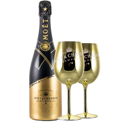 Moet Chandon Imperial Signature + 2 Glasses Summer Rocks Gold